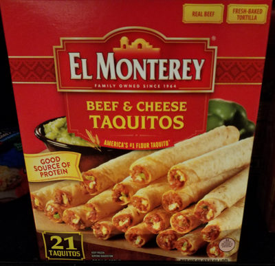 Beef & cheese taquitos