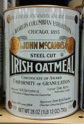 John mccann's, steel cut irish oatmeal