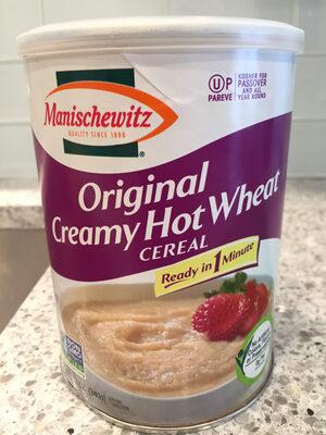 Original creamy hot wheat cereal
