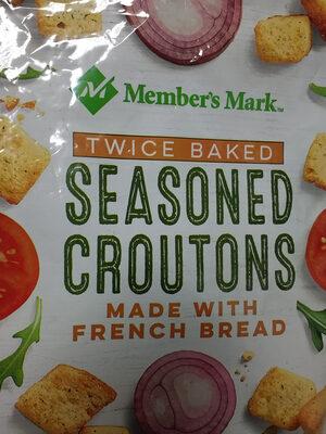 Twice baked seasoned croutons