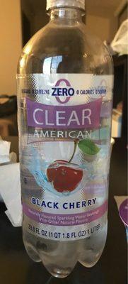 Black cherry flavored sparkling water beverage, black cherry