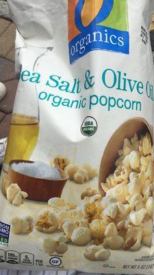 Organic sea salt & olive oil popcorn, sea salt & olive oil