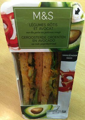 Sandwich Légumes Rotis et Avocat