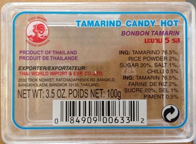 Tamarind candy hot