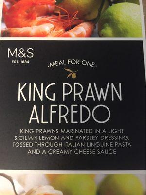 King prawn alfredo