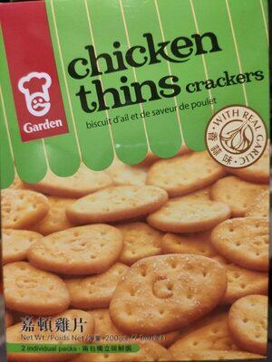Garden chicken thin crackers