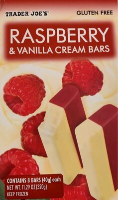 Rasberry and vanilla icecream bars