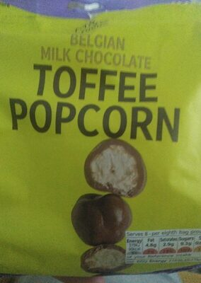 Belgian milk chocolate toffee popcorn