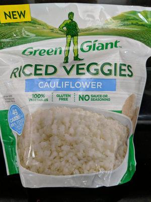 Cauliflower riced veggies, cauliflower