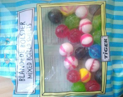 blandede bolsjer mixed boiled sweets