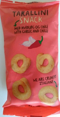 Snack with garlic and chilli