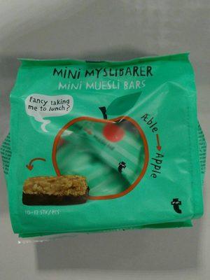 Mini muesli bars apple