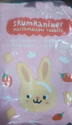 Marshmallow rabbits - White Chocolate and strawberry flavour