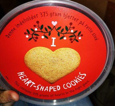 Heart-shaped cookies
