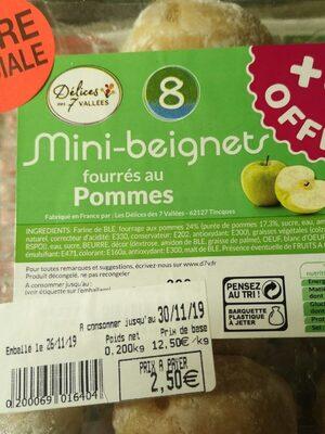 Mini beignets fourrés aux pommes