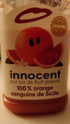 Innocent pur jus de fruit pressé 100% orange sanguine de sicile