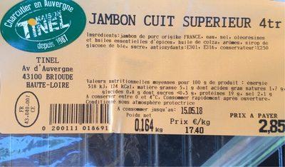 Jambon cuit superieur