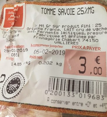 Tomme Savoie 25% mg