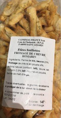 Flûtes feuilletées fromage de chêvre romarin