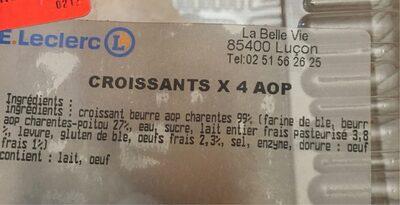 Croissants X 4 AOP