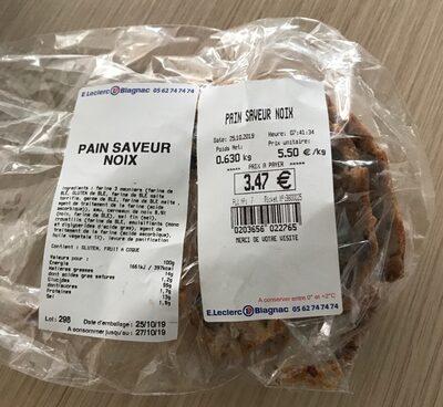 Pain saveur noix