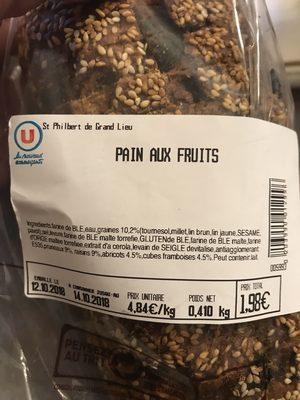Pain aux fruits