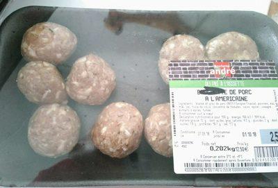 Boulettes de porc à l'américaine