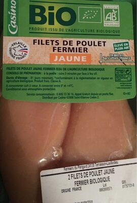 Filets de poulet fermier