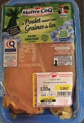 Le poulet nourri aux graines de lin