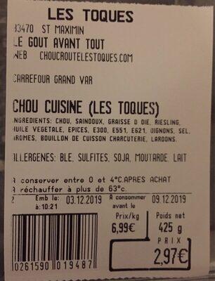 Chou cuisine