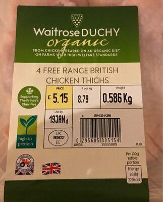 4 Free Range British Chicken Thights