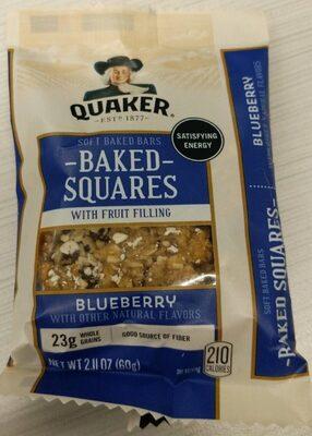 Blueberry breakfast squares soft baked bars, blueberry