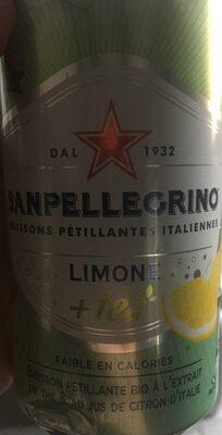 San pellegrino limone + tea