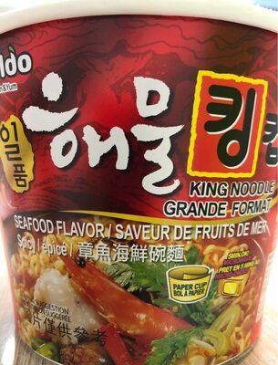 Paldo, king noodle, seafood