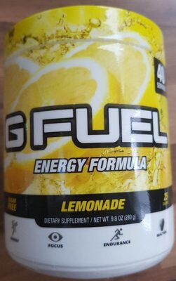 G Fuel Energy Formula Lemonade Tub