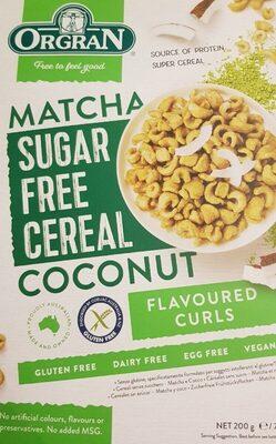 Matcha sugar free cereal coconut