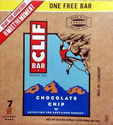 Chocolate chip energy bars, chocolate chip