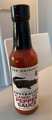 Australian flamin' hot pepper sauce