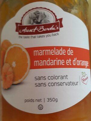 Marmelade de mandarine et d'orange