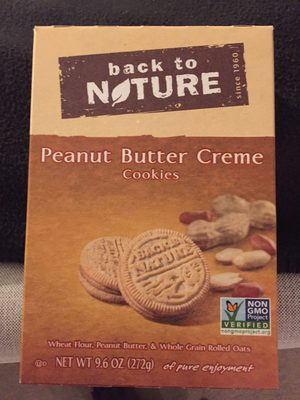 Back to nature, peanut butter creme cookies