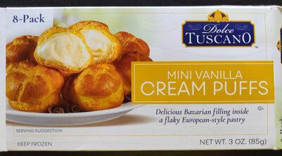 Dolce tuscano, cream puffs, mini vanilla