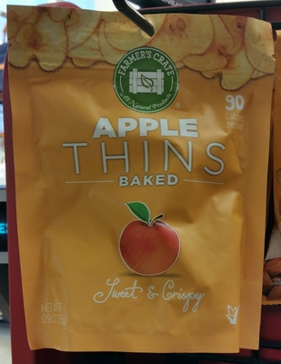 Baked thins apple