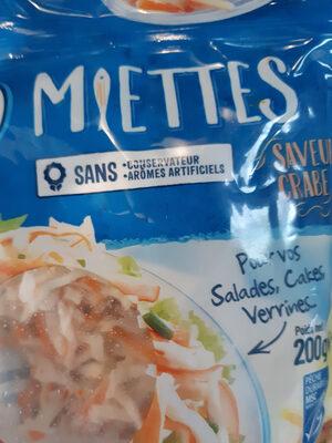 miettes saveur crabe