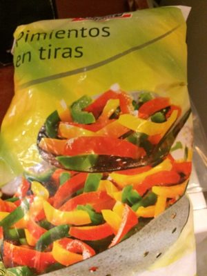 Pimientos en tiras- Lanières de poivrons tricolores