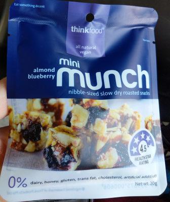 mini munch almond blueberry