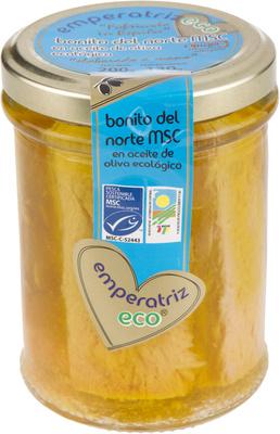 Bonito del norte MSC en aceite de oliva ecológico