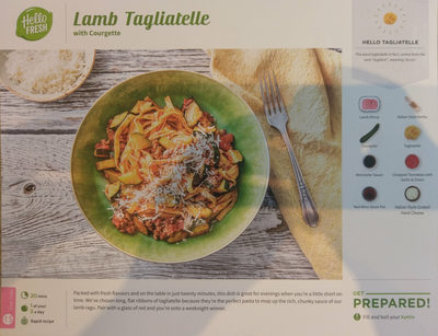 Lamb Tagliatelle with Courgette