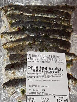 Sardine fumée aux algues