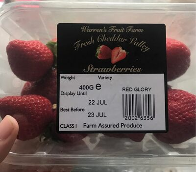 Fresh cheddar valley strawberries