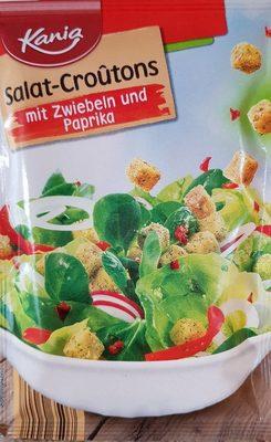 Salat-croutons, Paprika & Zwiebel